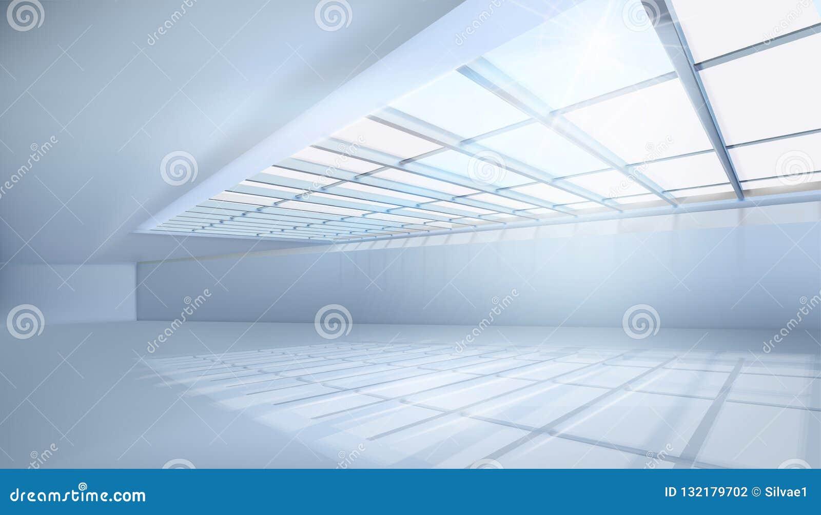 Wielki pokój z okno również zwrócić corel ilustracji wektora