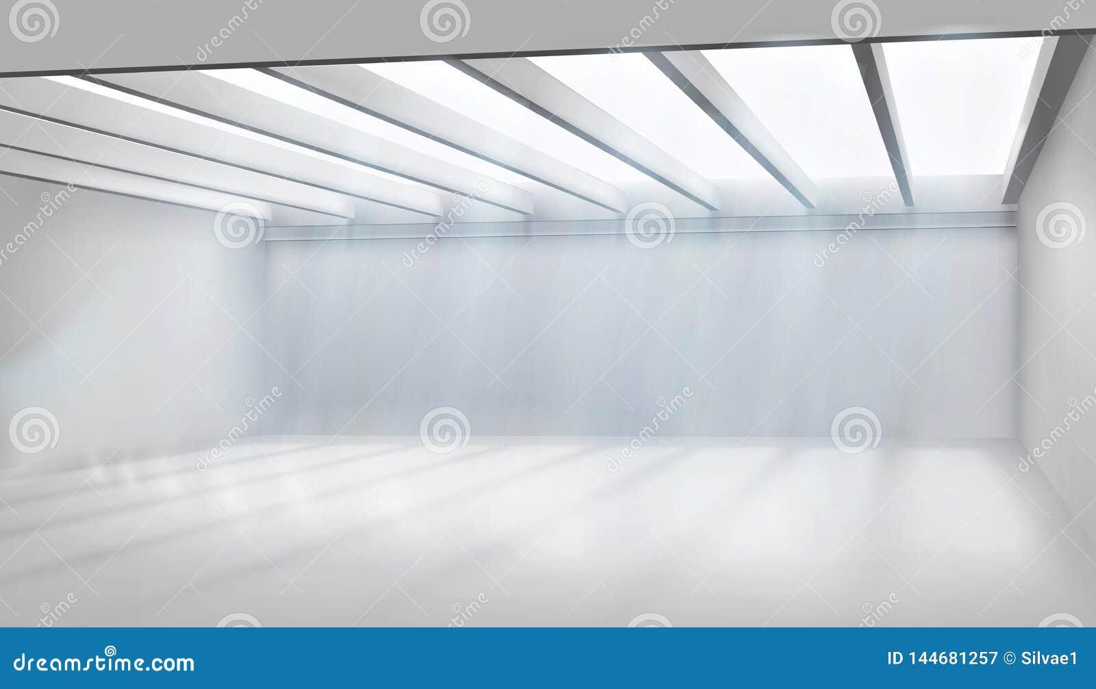Wielki pokój z szklanym dachem również zwrócić corel ilustracji wektora