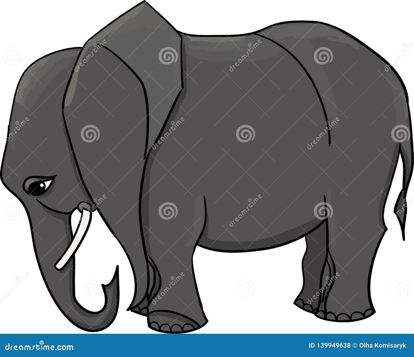 Wielki szary afrykański słoń dekoruje