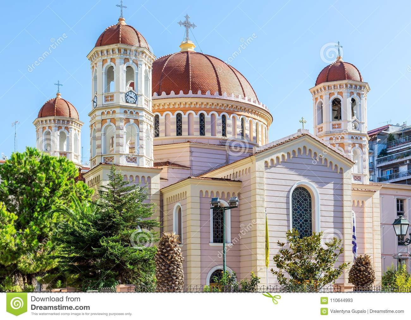 Wielkomiejska Ortodoksalna świątynia święty Gregory Palamas w Saloniki, Grecja