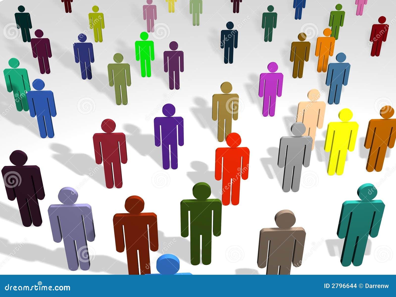 Wielo- ludzi kolorowych