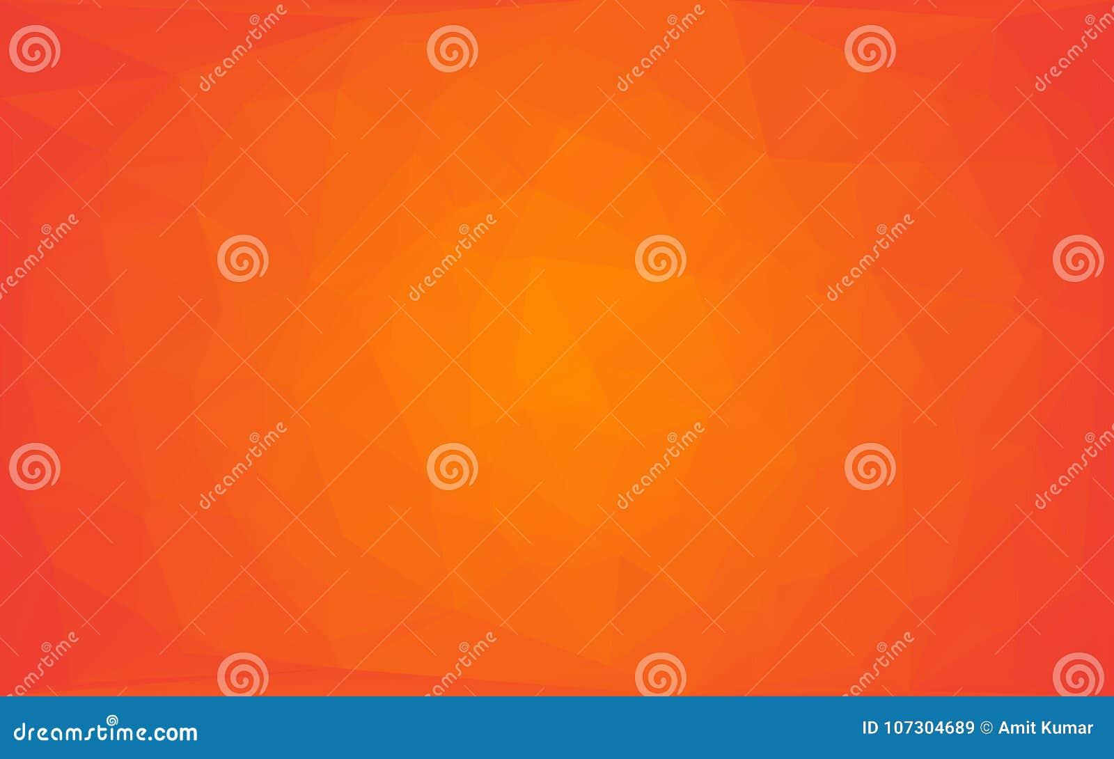 Wielobok Abstrakcjonistycznej mozaiki wektorowy żółty pomarańczowy round tło