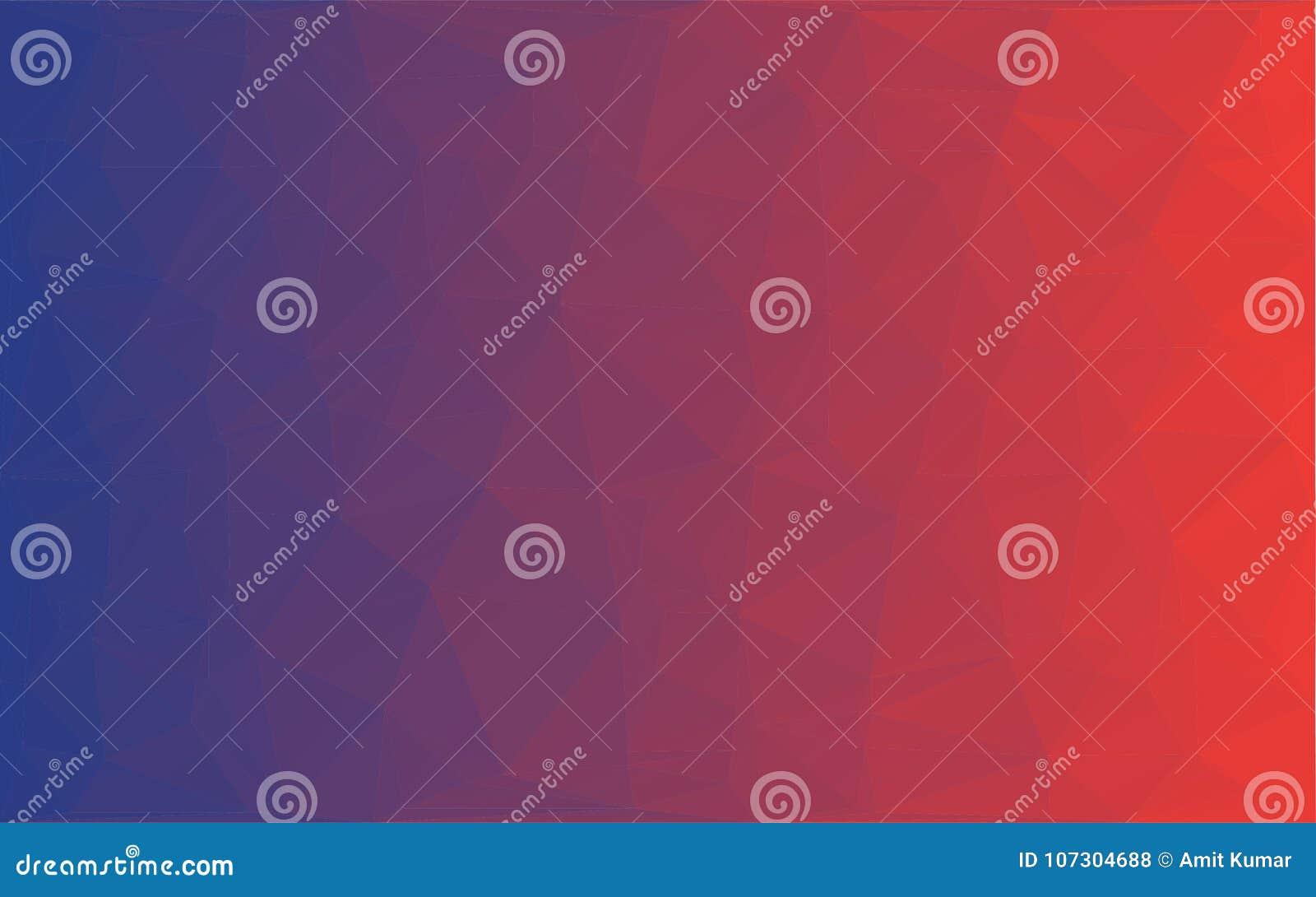 Wielobok Abstrakcjonistycznej mozaiki wektorowy czerwony fiołkowy tło