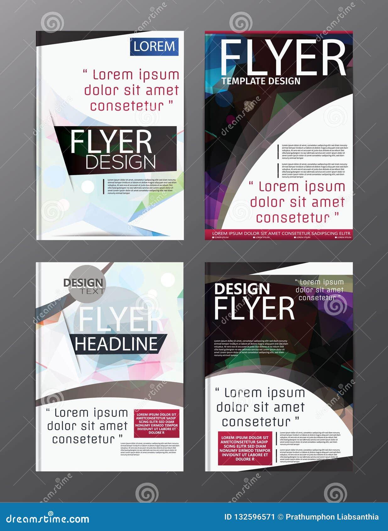 Wielobok broszurki Nowożytny wektor CMYK Nowożytny A4