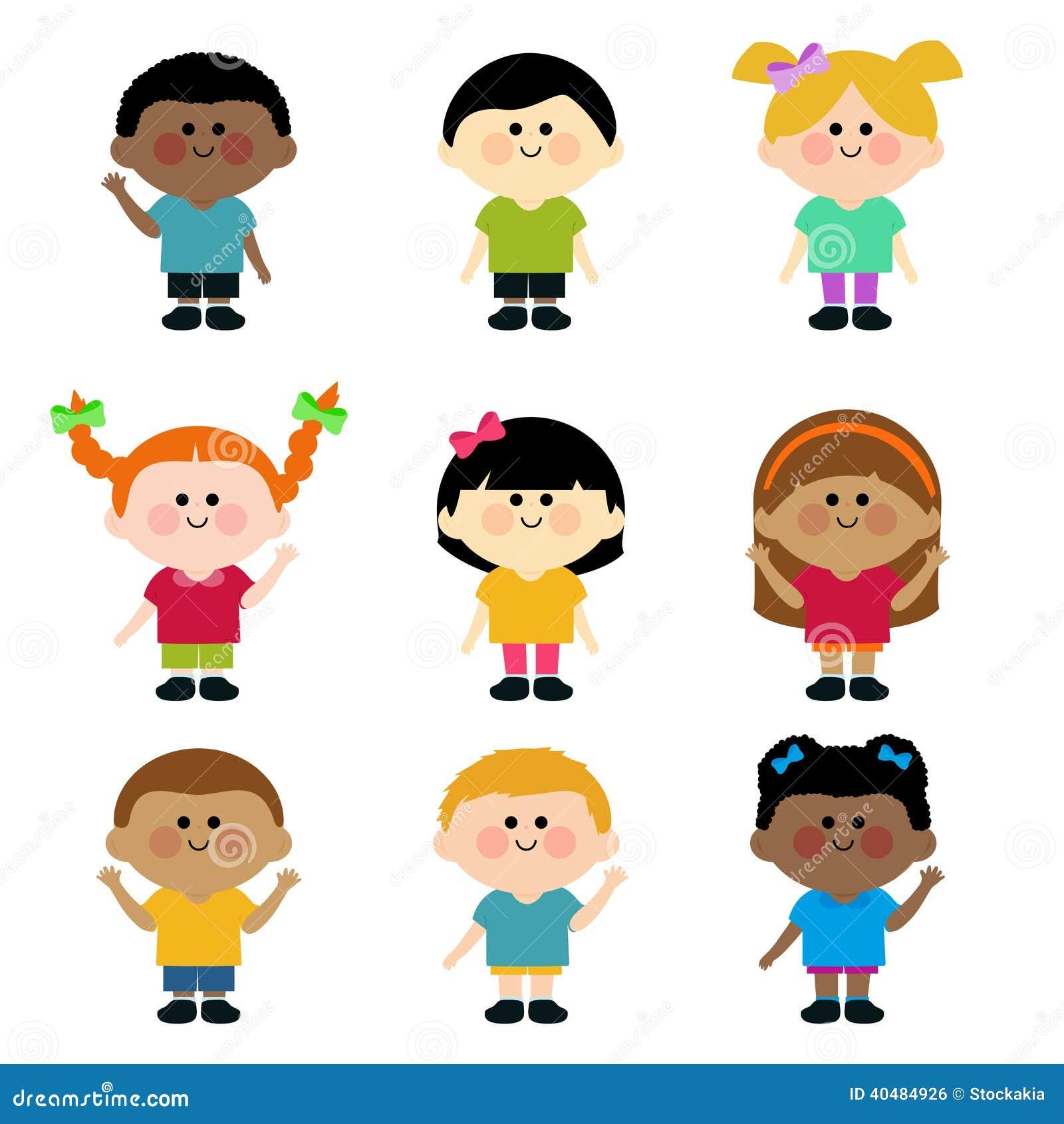 Wielokulturowa grupa dzieciaki.