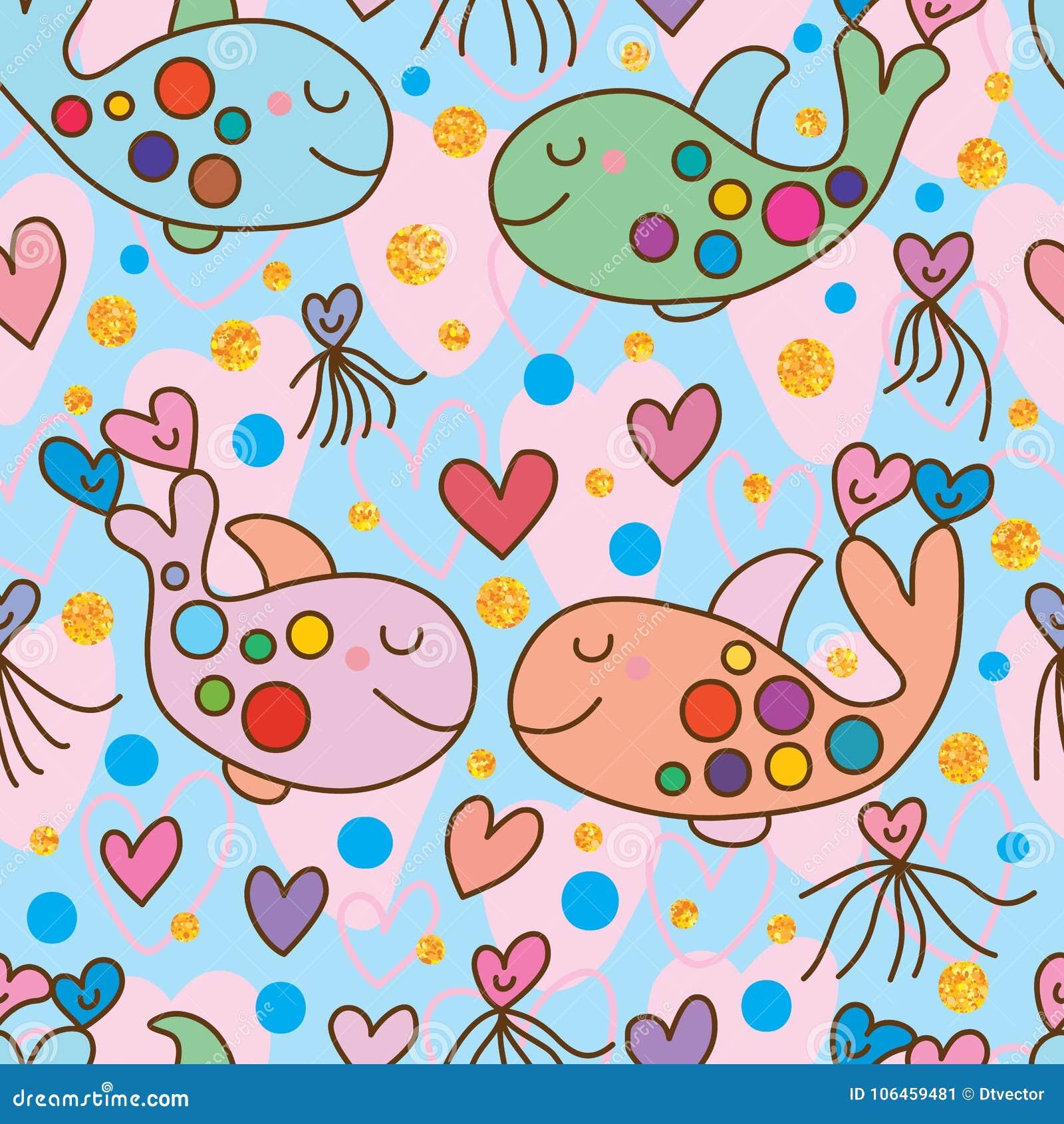 Wieloryb kopii miłość bezszwowa