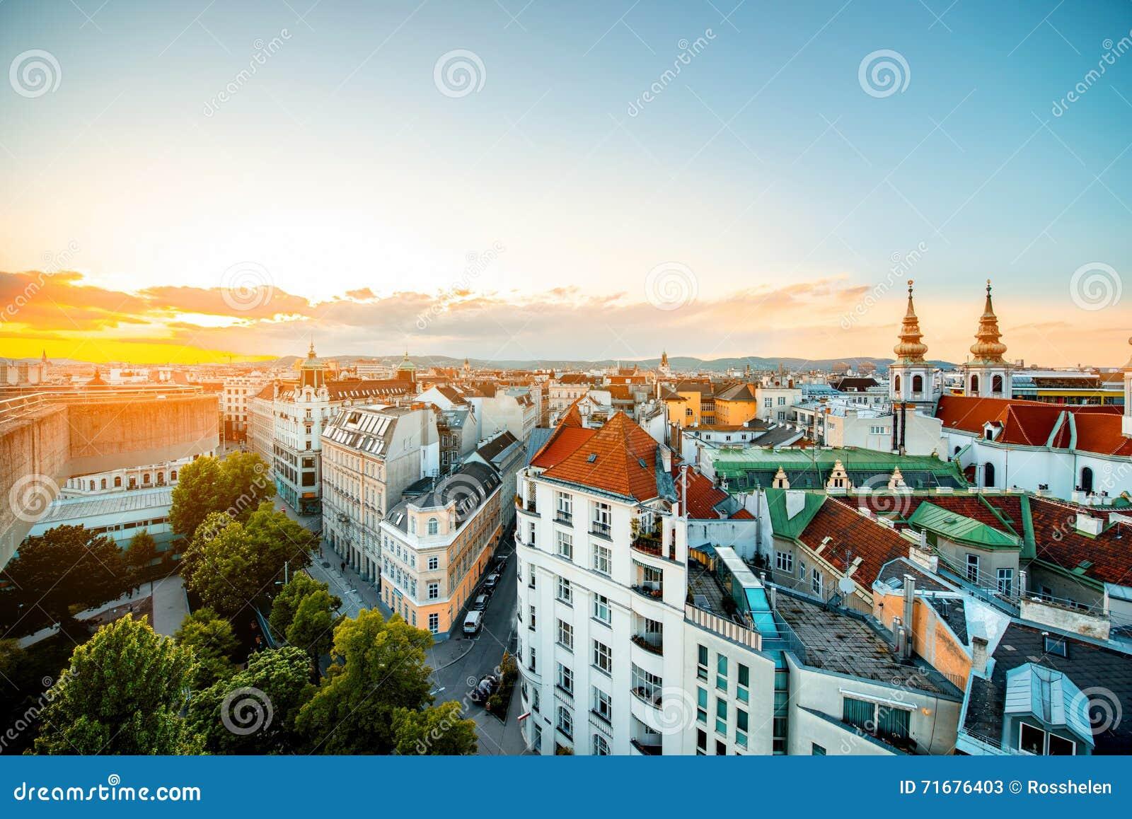 Wien cityscape i Österrike