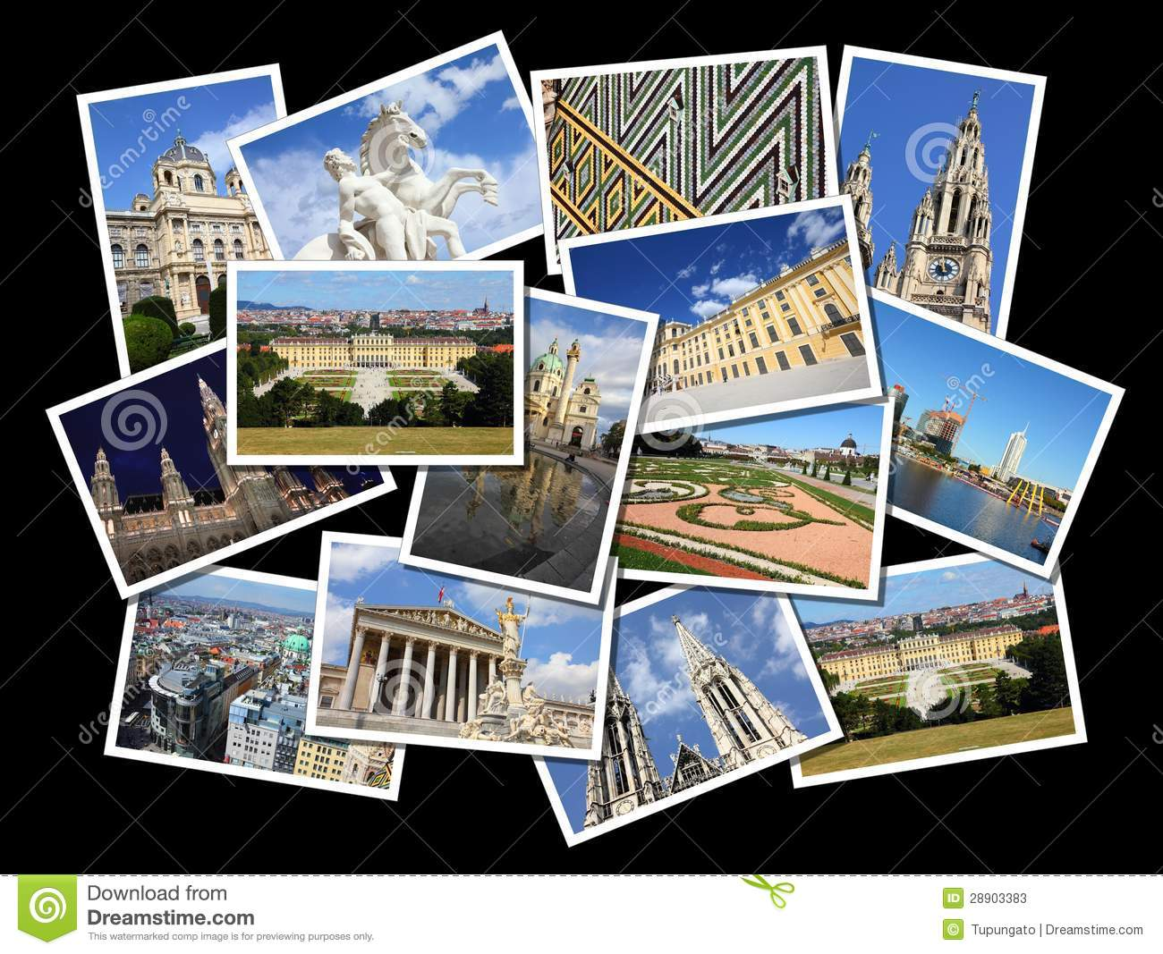 wien collage stockfotos bild 28903383. Black Bedroom Furniture Sets. Home Design Ideas