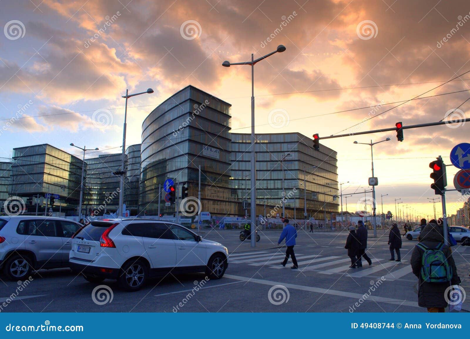 Download Wien-Kreuzung Bei Sonnenuntergang Redaktionelles Stockbild - Bild von österreich, tourismus: 49408744