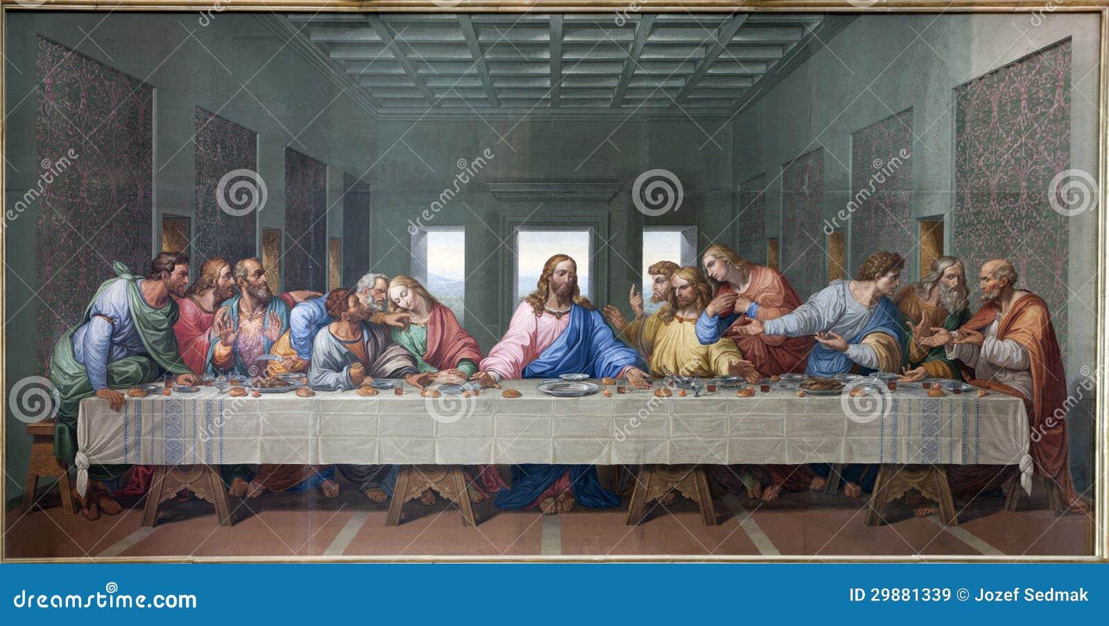 Wien - mosaik av den sist kvällsmålet av Jesus