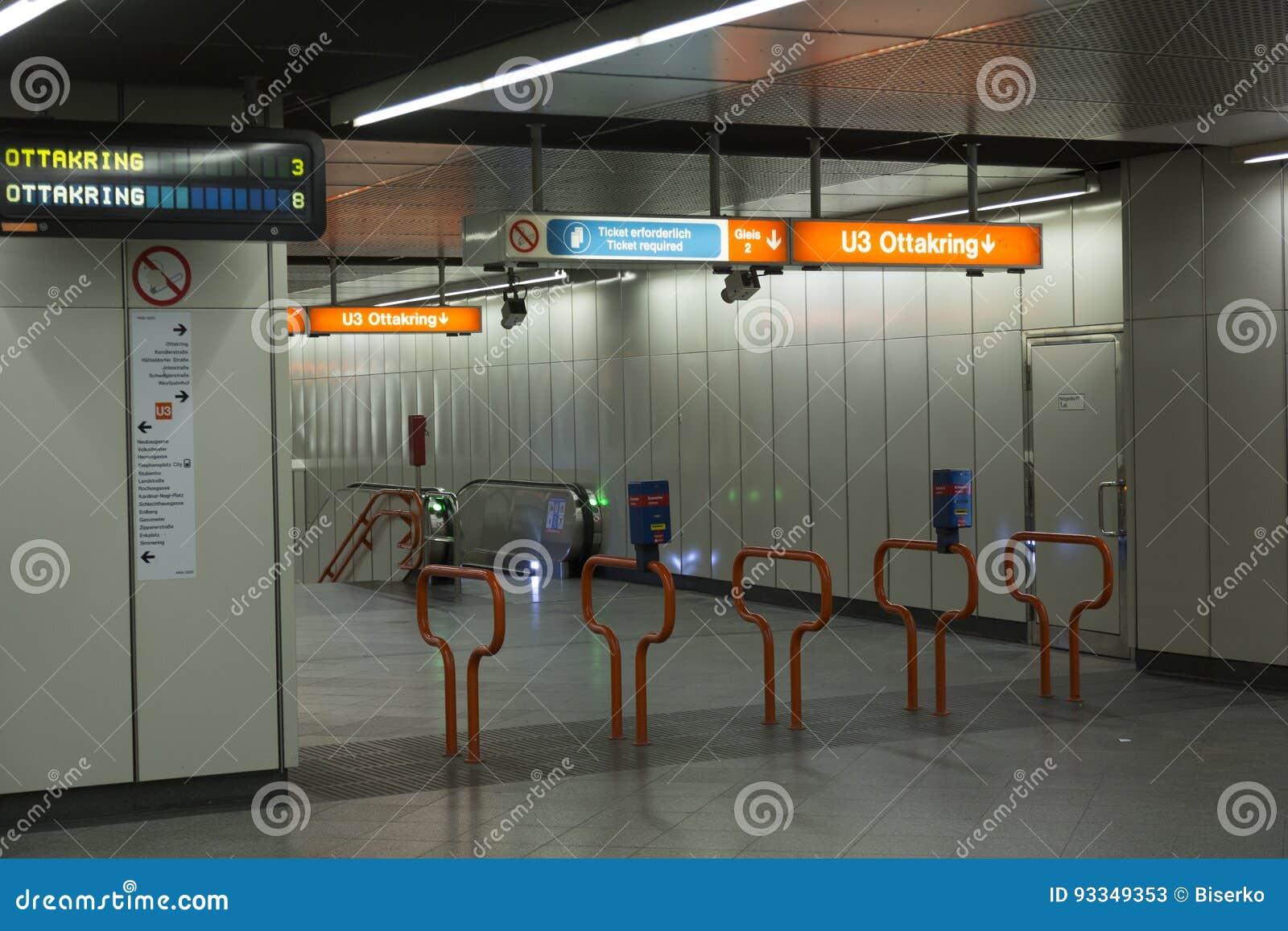Wien U Bahn Redaktionelles Stockfoto Bild Von Verbindung