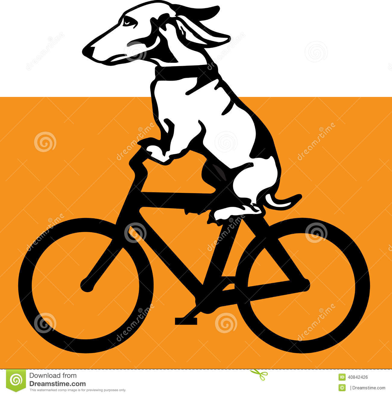 Wiener Dog Riding A Bicycle Stock Vector - Image: 40842426