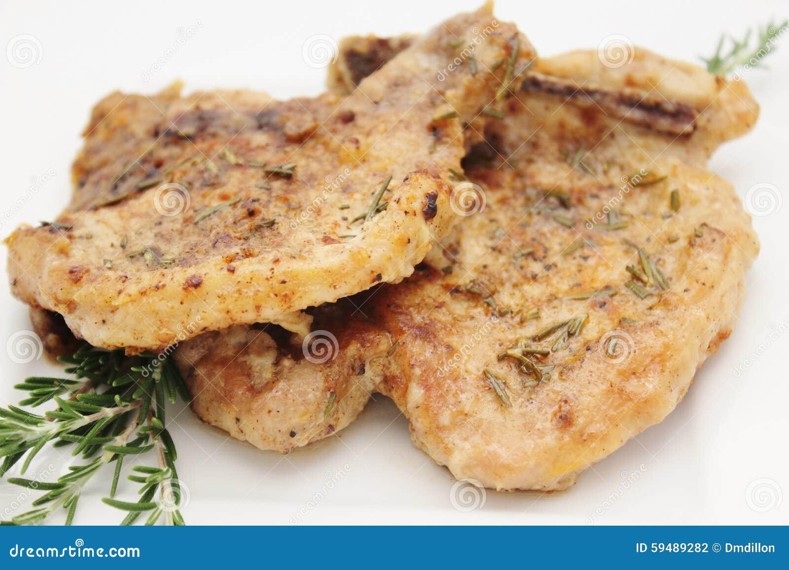Wieprzowina kotleciki z rozmarynami