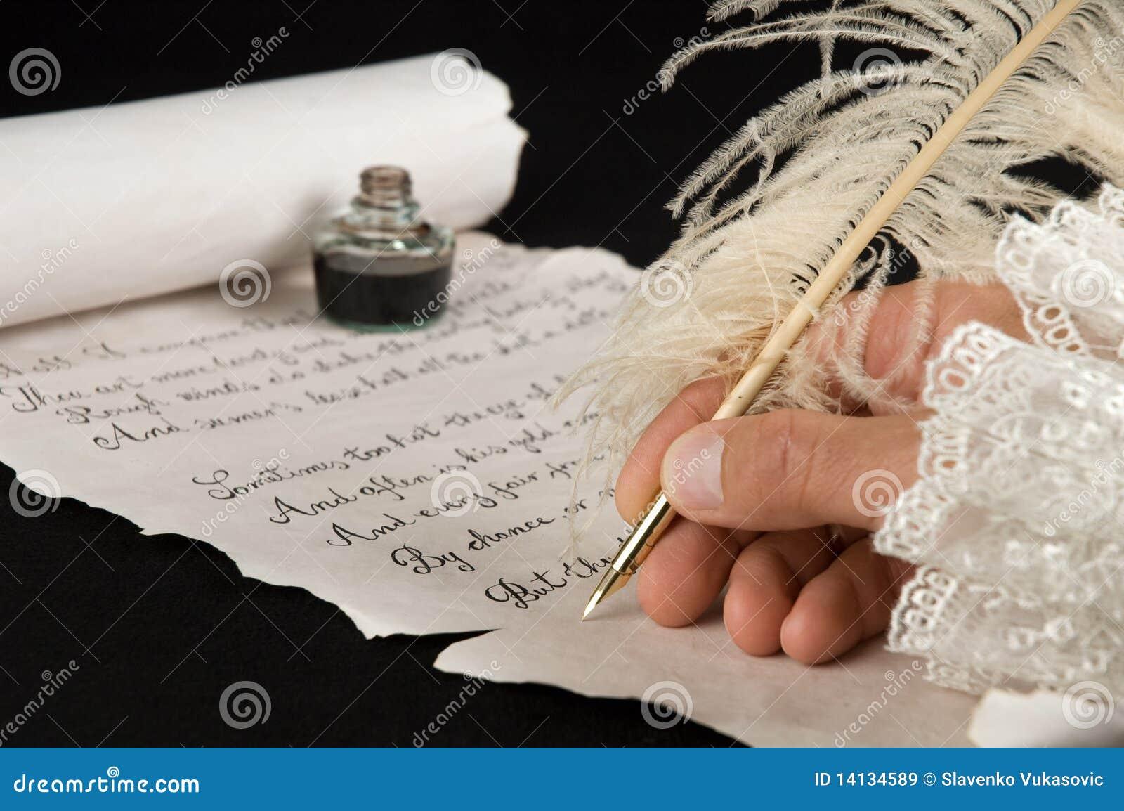 Wiersza Writing Obraz Stock Obraz Złożonej Z Wiersz 14134589
