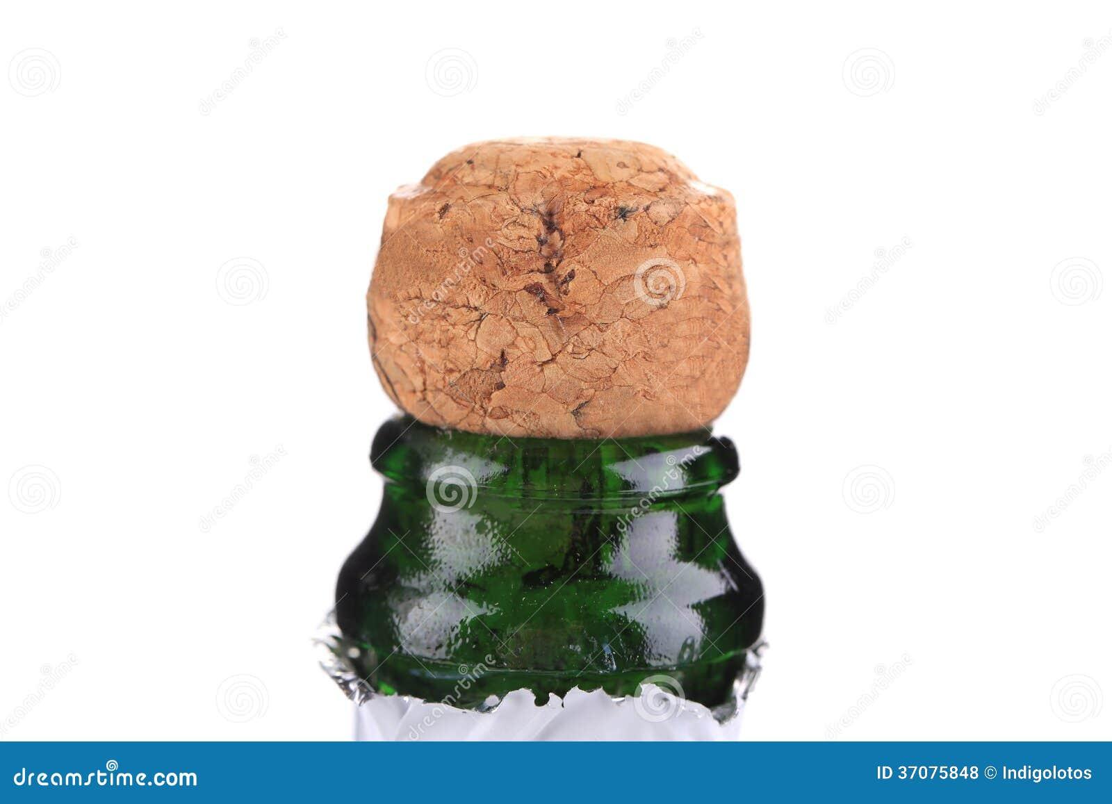 Download Wierzchołek Szampańska Butelka Z Korkiem. Zdjęcie Stock - Obraz złożonej z wakacje, świętuje: 37075848