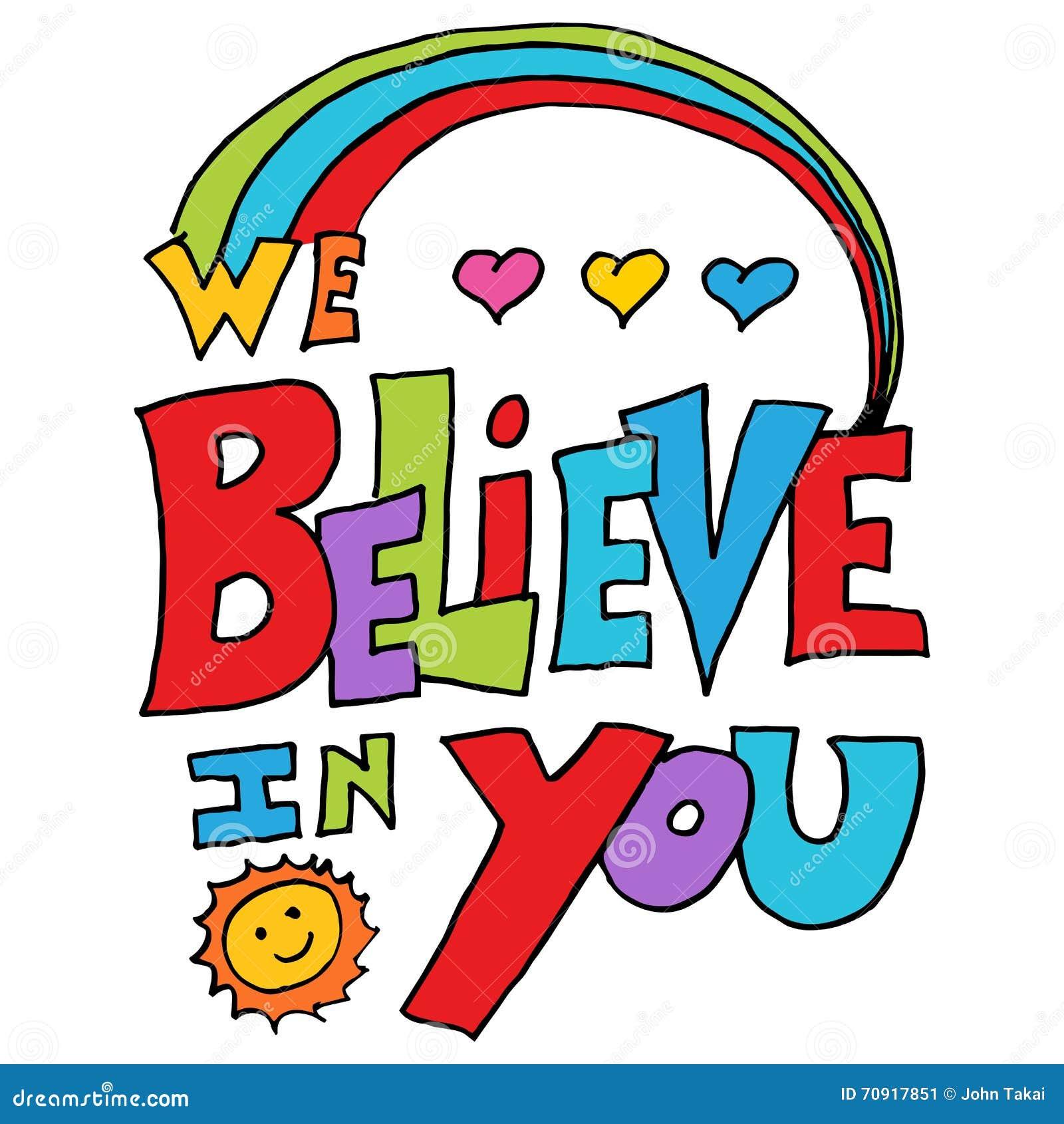 Wierzymy w was wiadomość