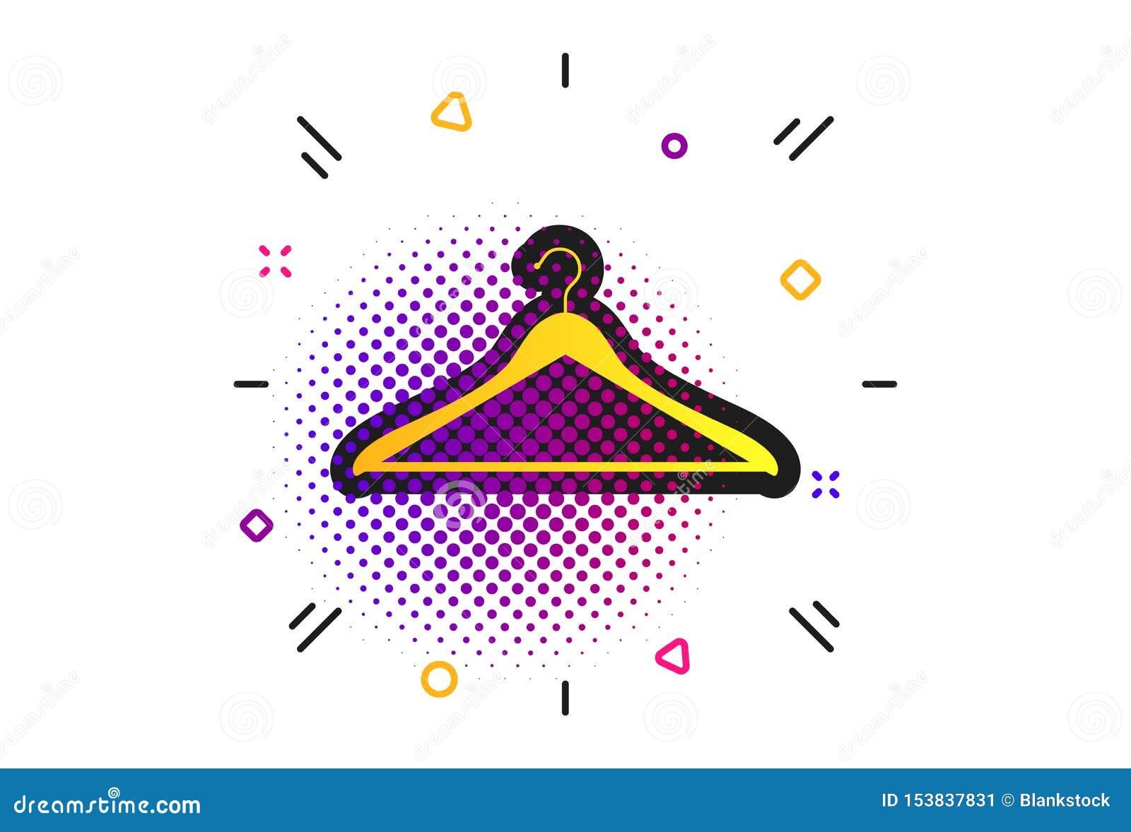 Wieszak szyldowa ikona Cloakroom symbol wektor