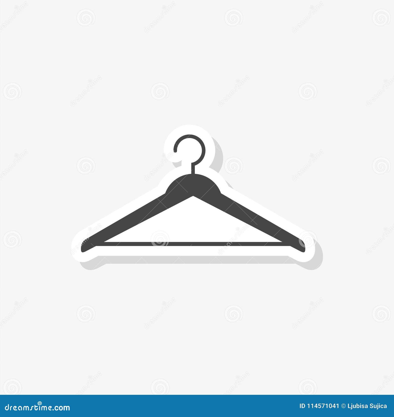Wieszaka szyldowy majcher, Cloakroom symbol, prosta wektorowa ikona