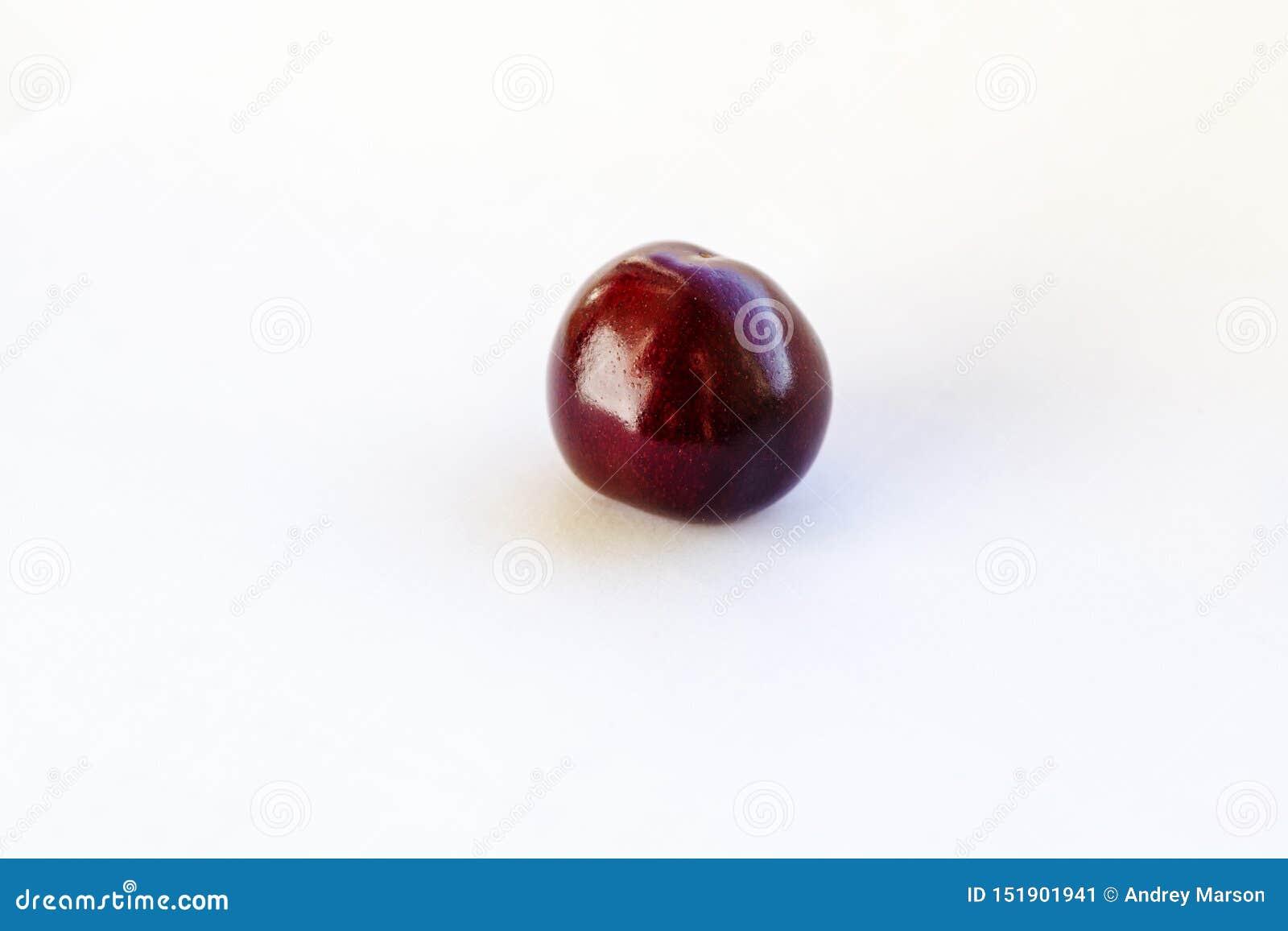 ?wiezi cherrys T?o Makro- szczegół, wiśnia odizolowywająca