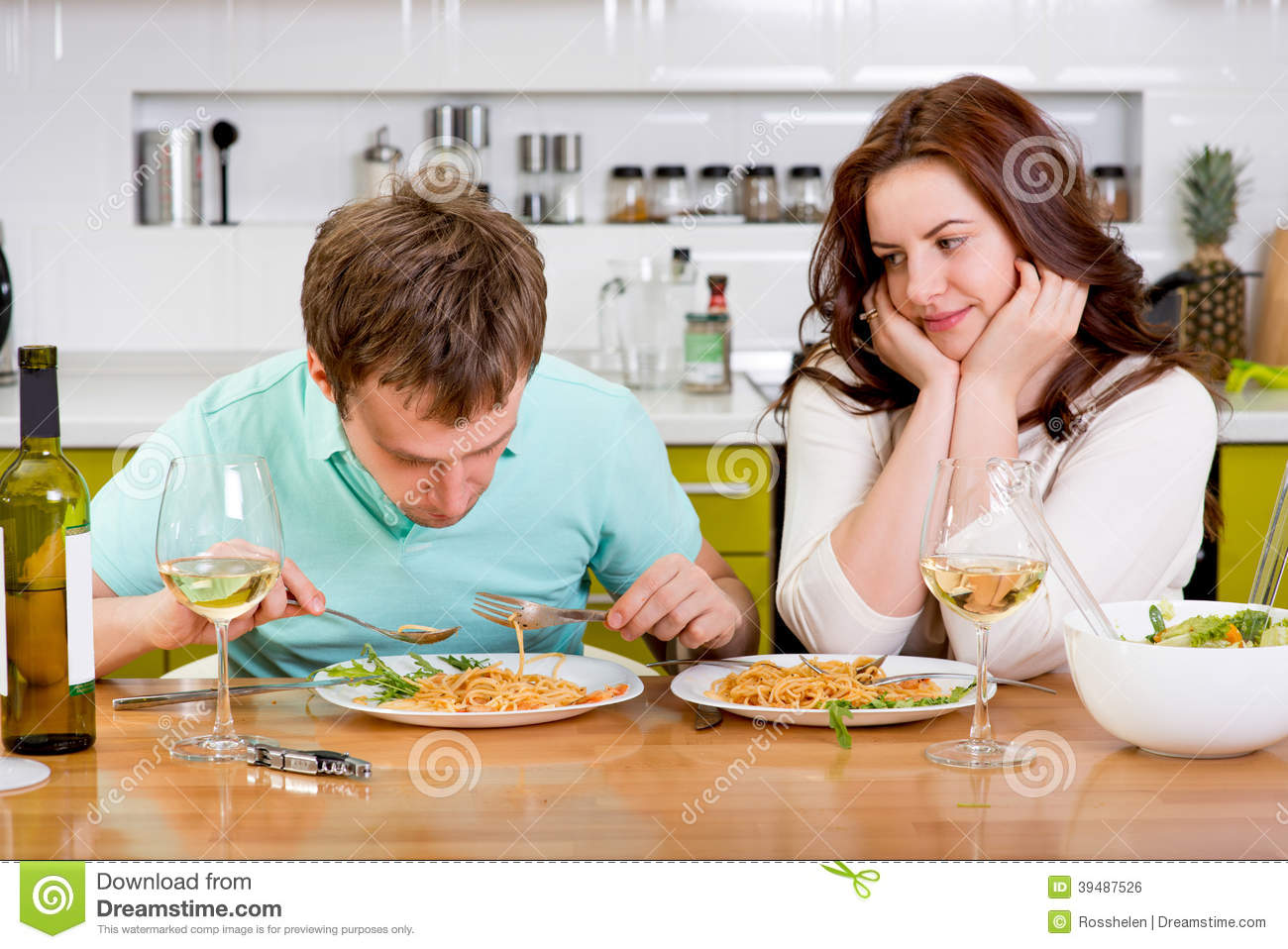 Husband Eating Out Wife