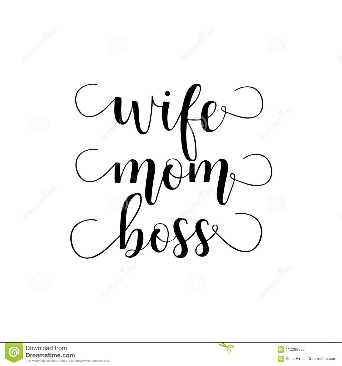 Wife mom boss lettering mothers day hand lettering for greeting boss lettering mothers day hand lettering for greeting m4hsunfo