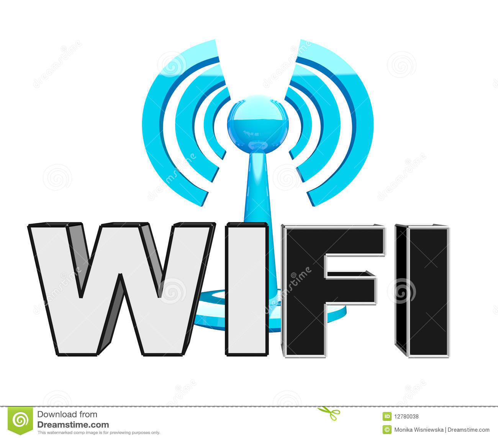 Wifi (drahtlose) Blaue Moderne Ikone Stock Abbildung - Illustration ...