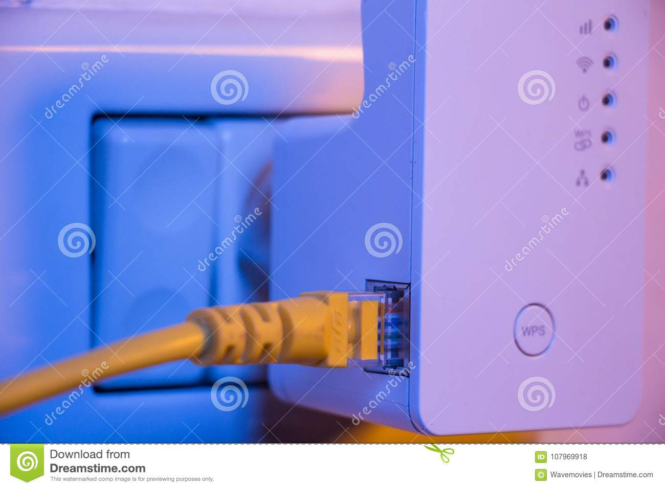 wifi extender in electrical socket on the wall ethernet cab wifi extender in electrical socket on the wall ethernet cable plugged in the device is in access point mode that help to extend wireless network in