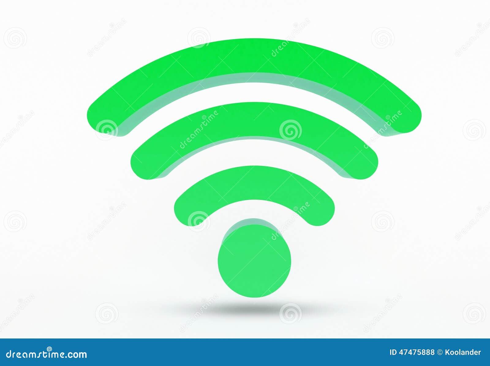 WiFi icon - symbol isolated on white background.