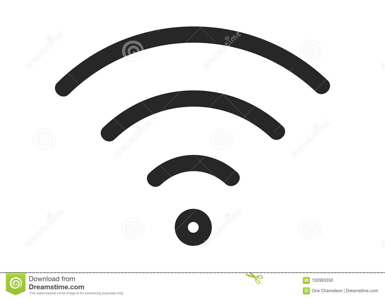 Wifi Icon Vector Flat Network Sign Symbol For Mobile User Interface
