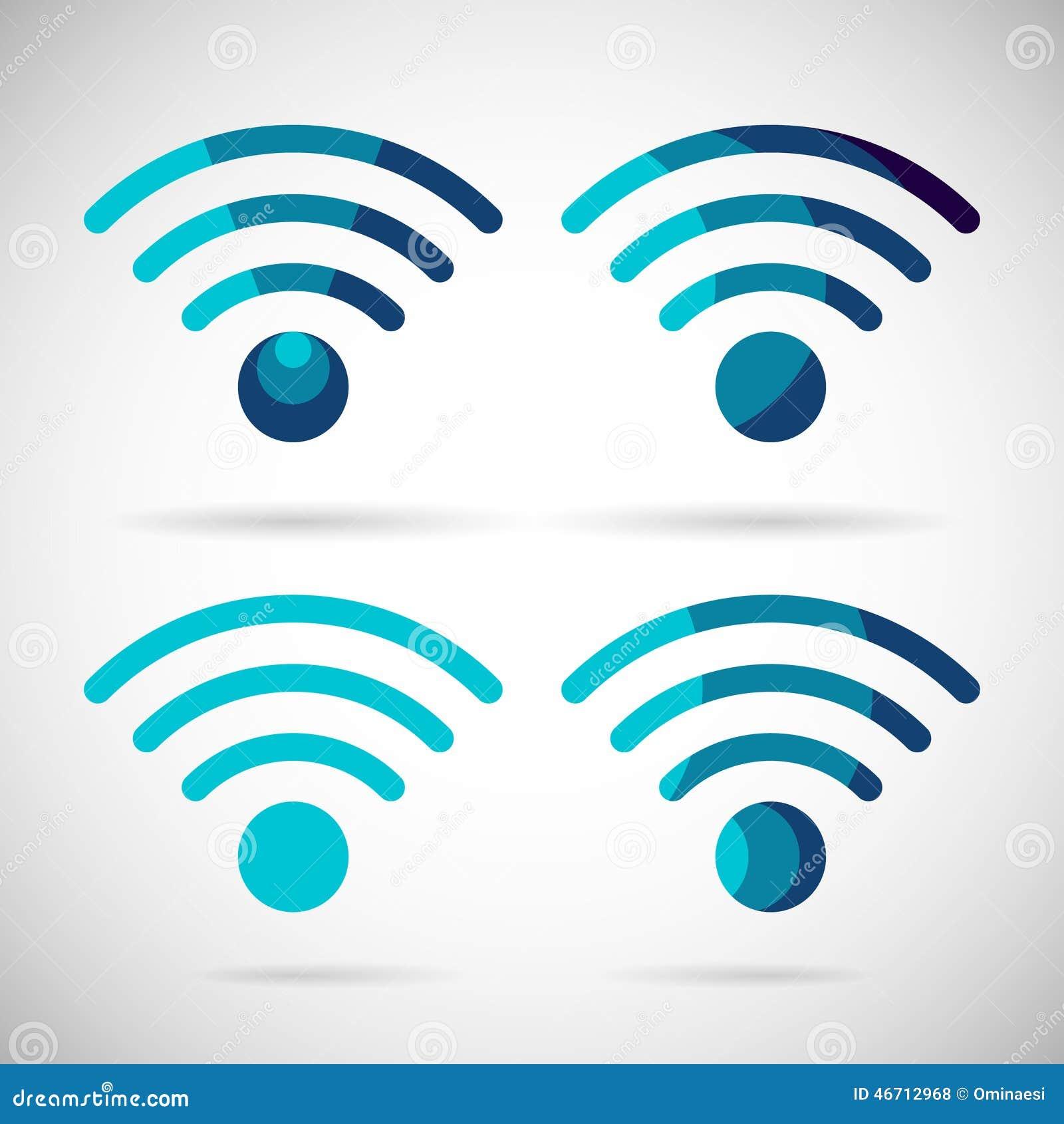Wifi icon wireless internet connection flat design stock vector wifi icon wireless internet connection flat design buycottarizona Images