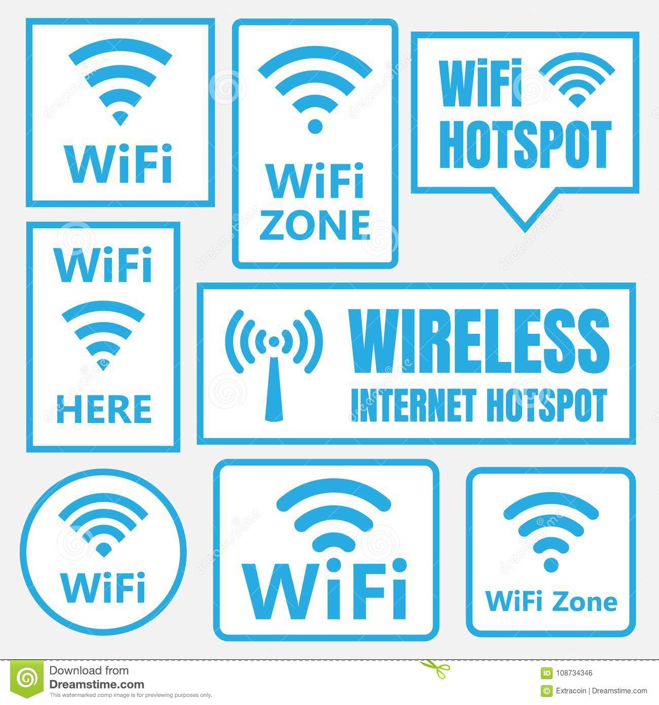 Wireless Network Connection Symbols Trusted Wiring Diagram Wifi Icons And Signs Signal Stock Vector Illustration Of Wi Fi