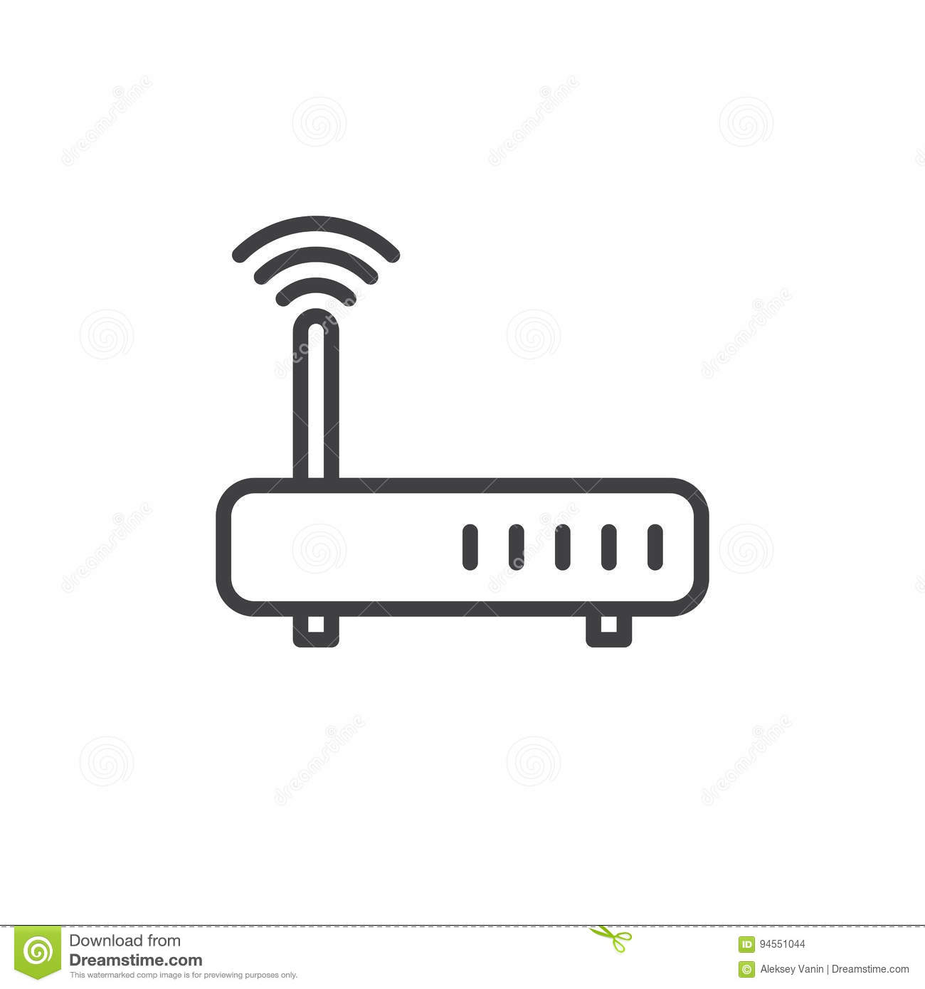 Wifi Internet Router Line Icon Outline Vector Sign Linear Style
