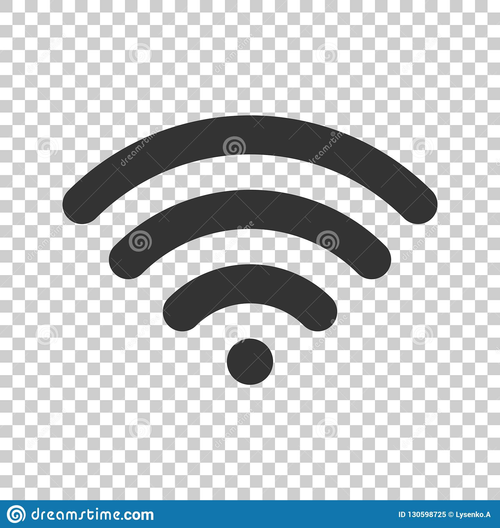 Wifi internet sign icon in flat style. Wi-fi wireless technology