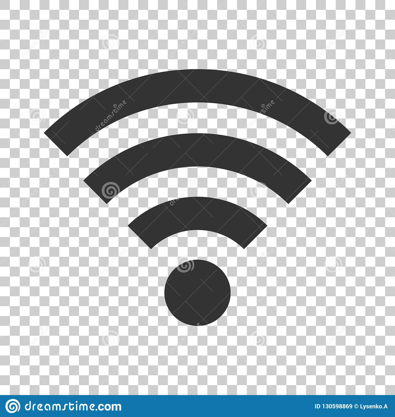 Wifi internet sign icon in flat style. Wi-fi wireless technology