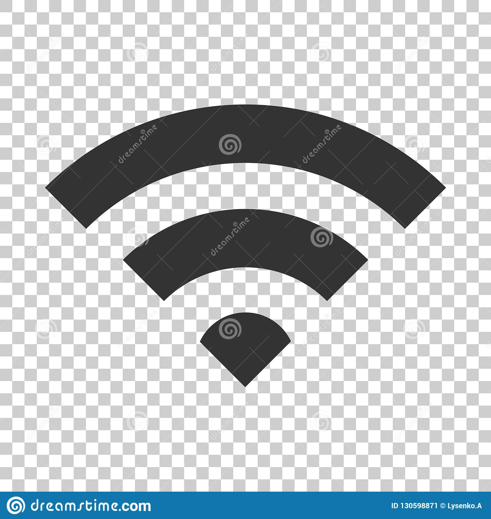Wifi-Internet-Zeichenikone in der flachen Art Drahtlose Technologie Wi-Fi