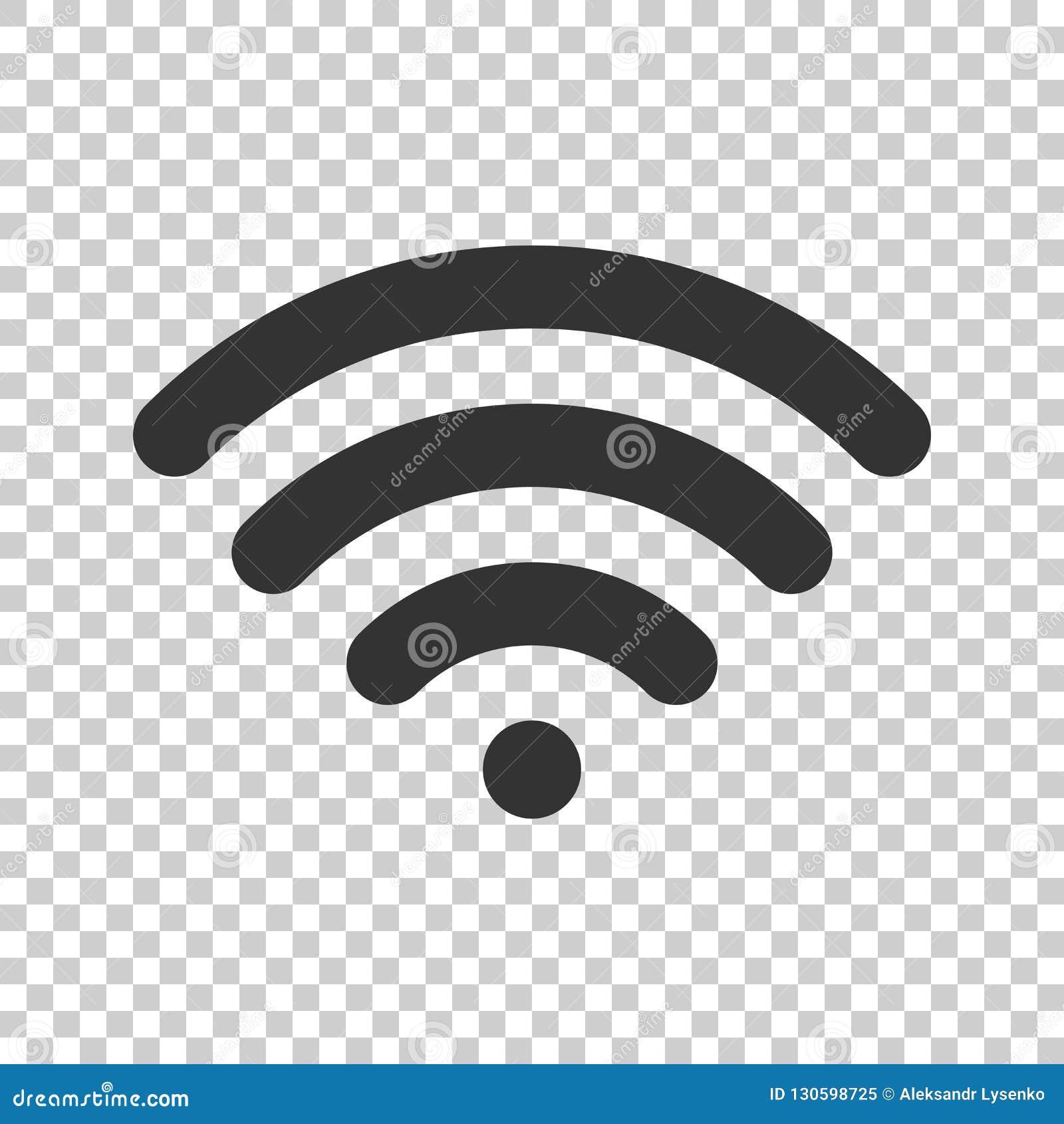 Wifi interneta znaka ikona w mieszkanie stylu Fi technologia bezprzewodowa