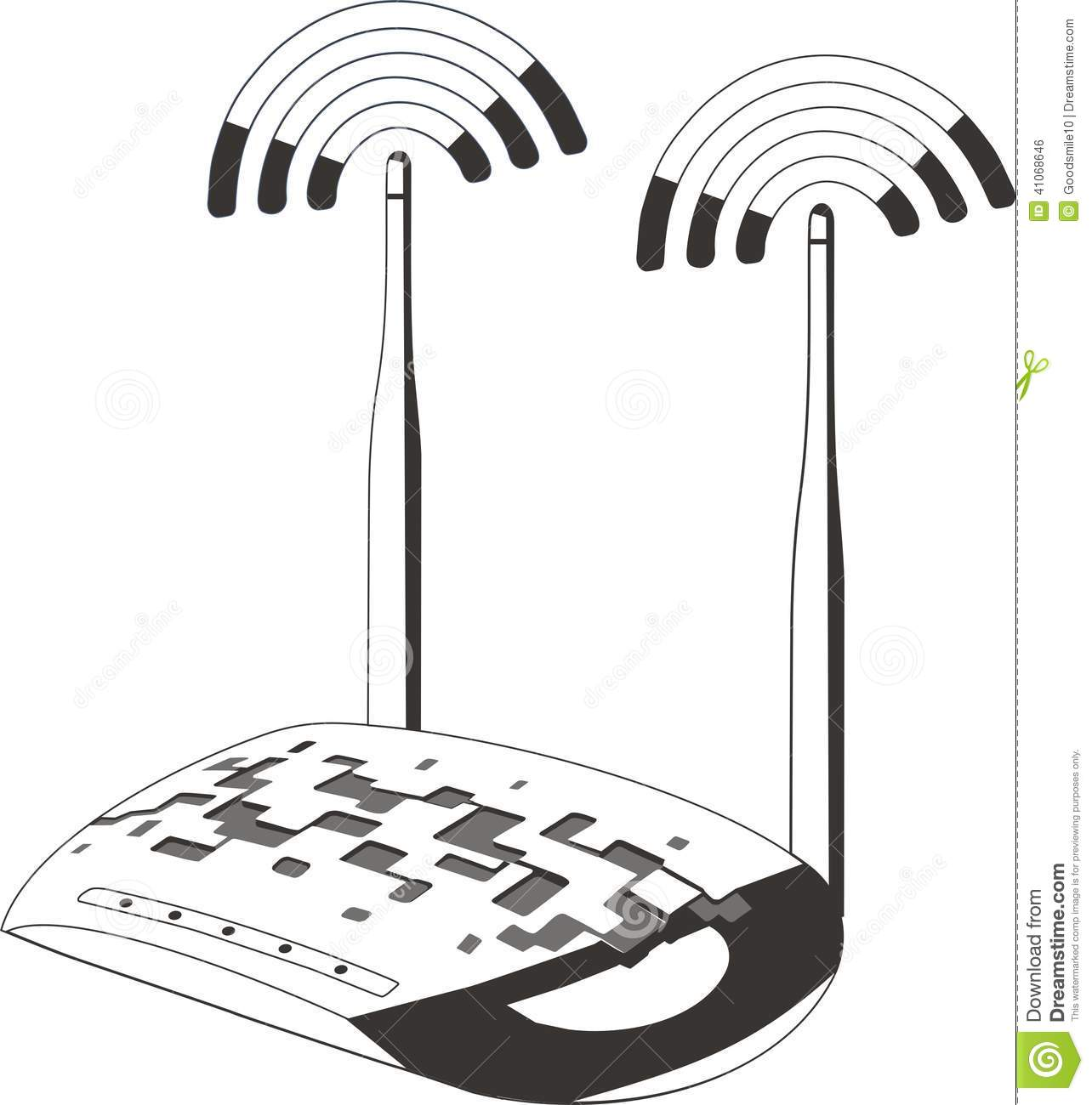 wifi internet router switch modem stock image