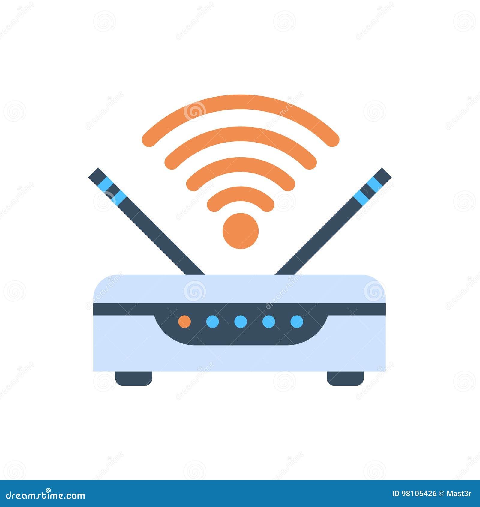 Wifi-Router-drahtlose Internetanschluss-Ikone Vektor Abbildung ...