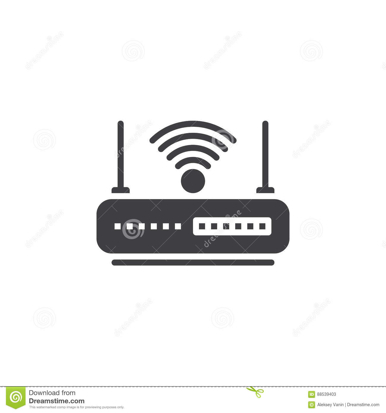WIFI Router Icon Vector, Filled Flat Sign, Solid Pictogram Isolated ...