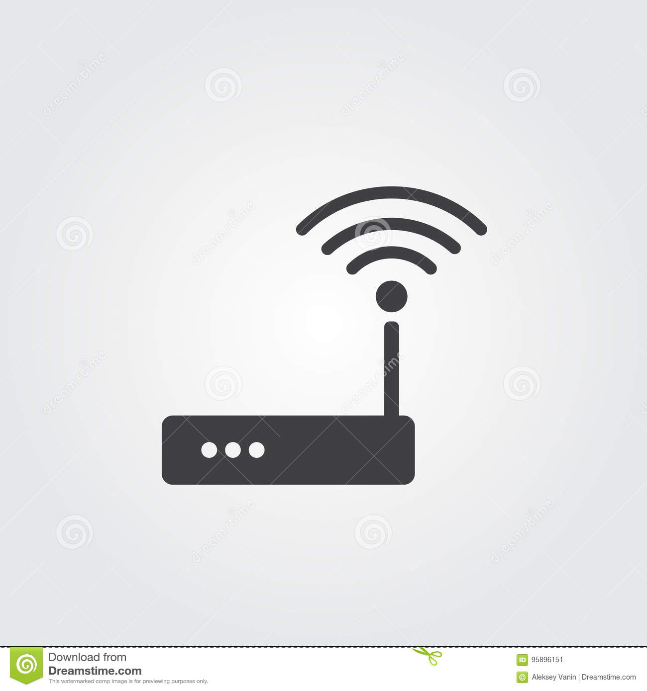 6d1ac0c8dd2 Wifi Router Icon Vector On Gray Background. Stock Vector ...