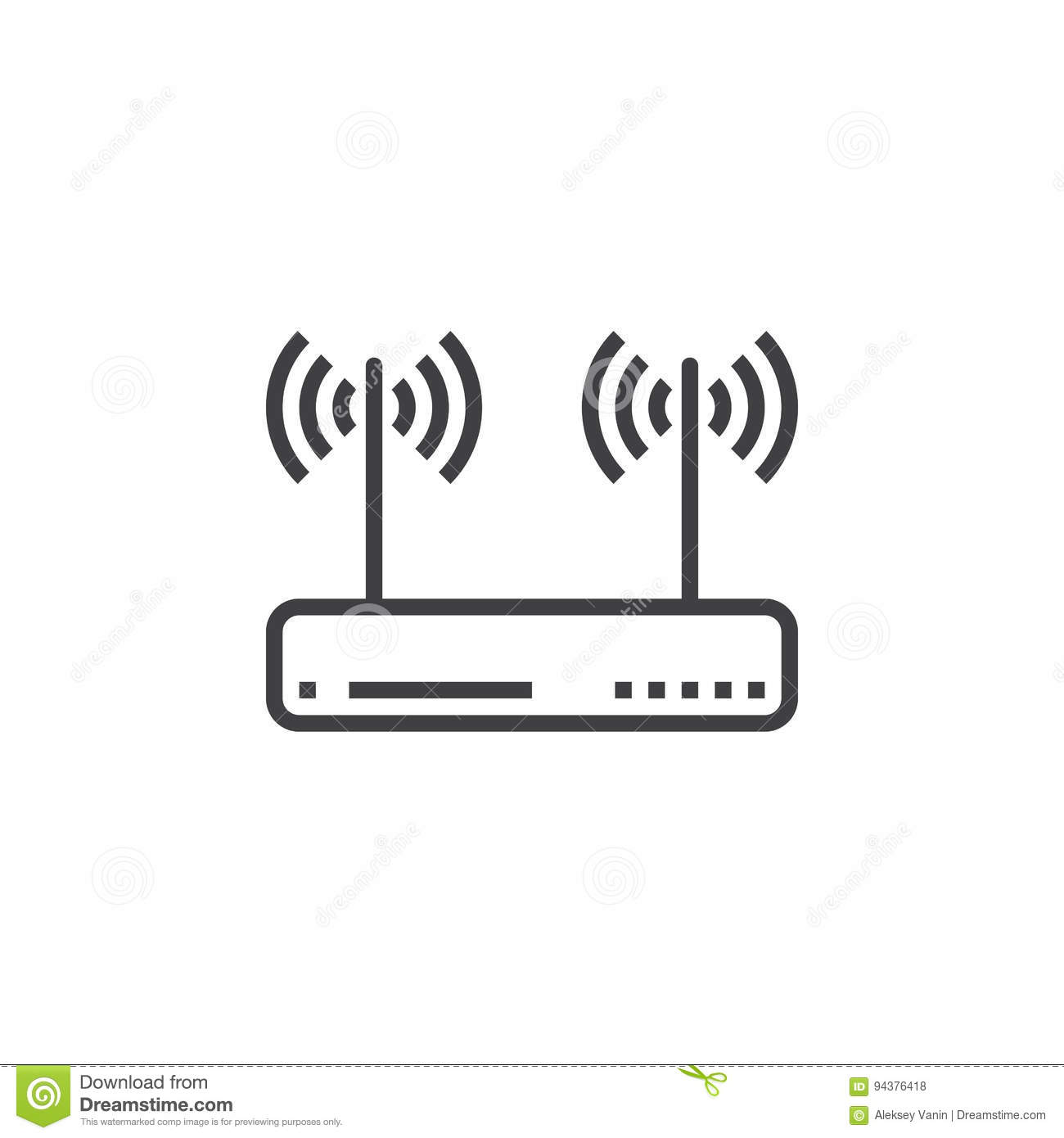 Wifi Router, Wireless Dsl Modem Line Icon, Outline Vector Sign