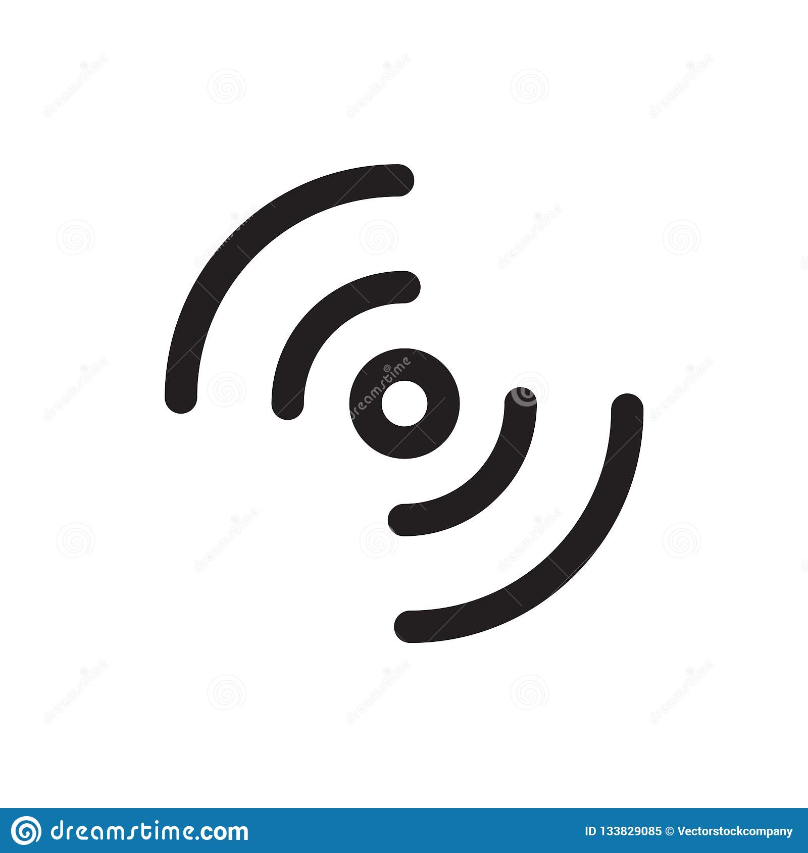 WiFi Signal Icon Vector Sign And Symbol Isolated On White