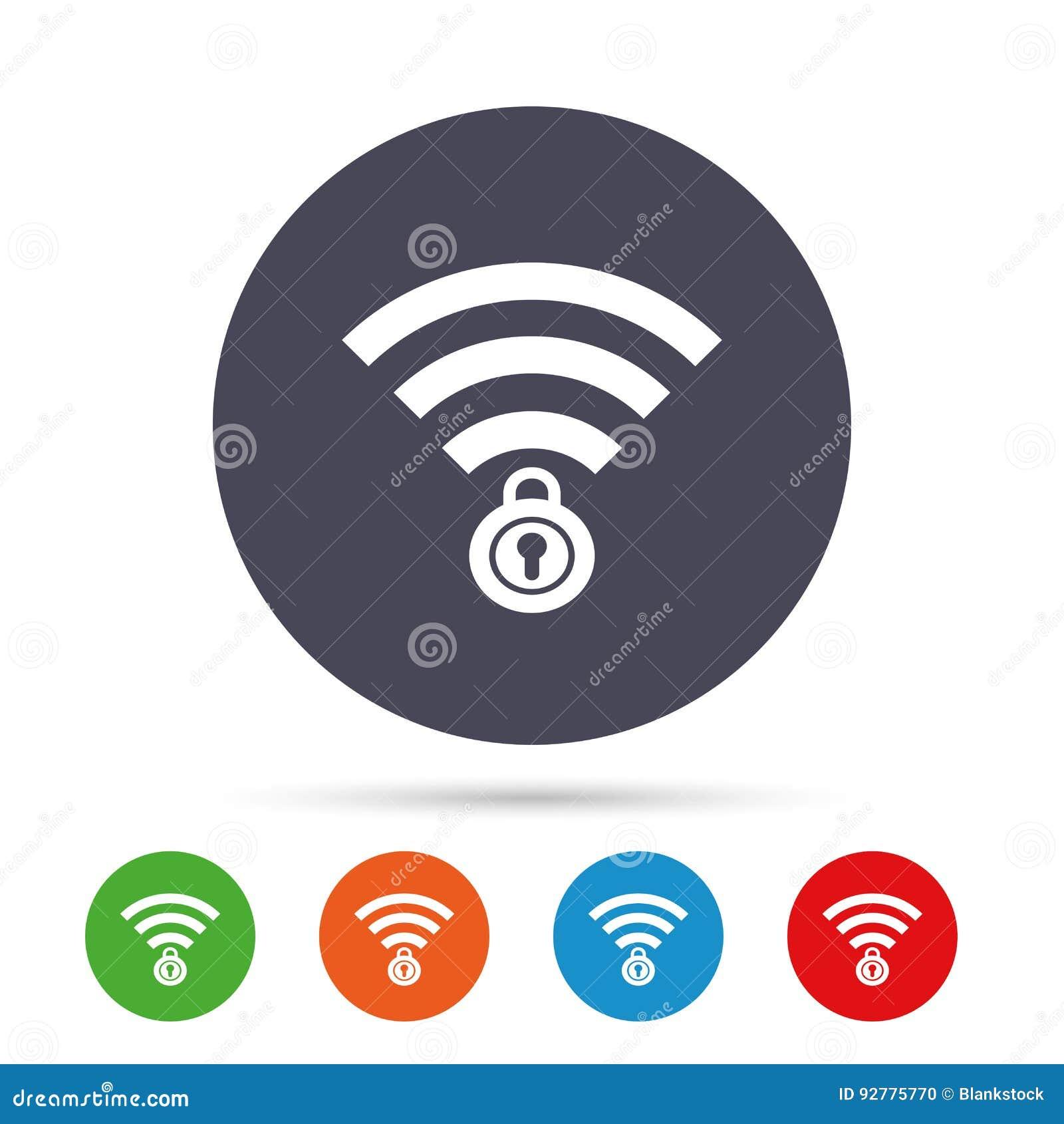 Wifi sloot teken Het symbool van paswifi draadloos