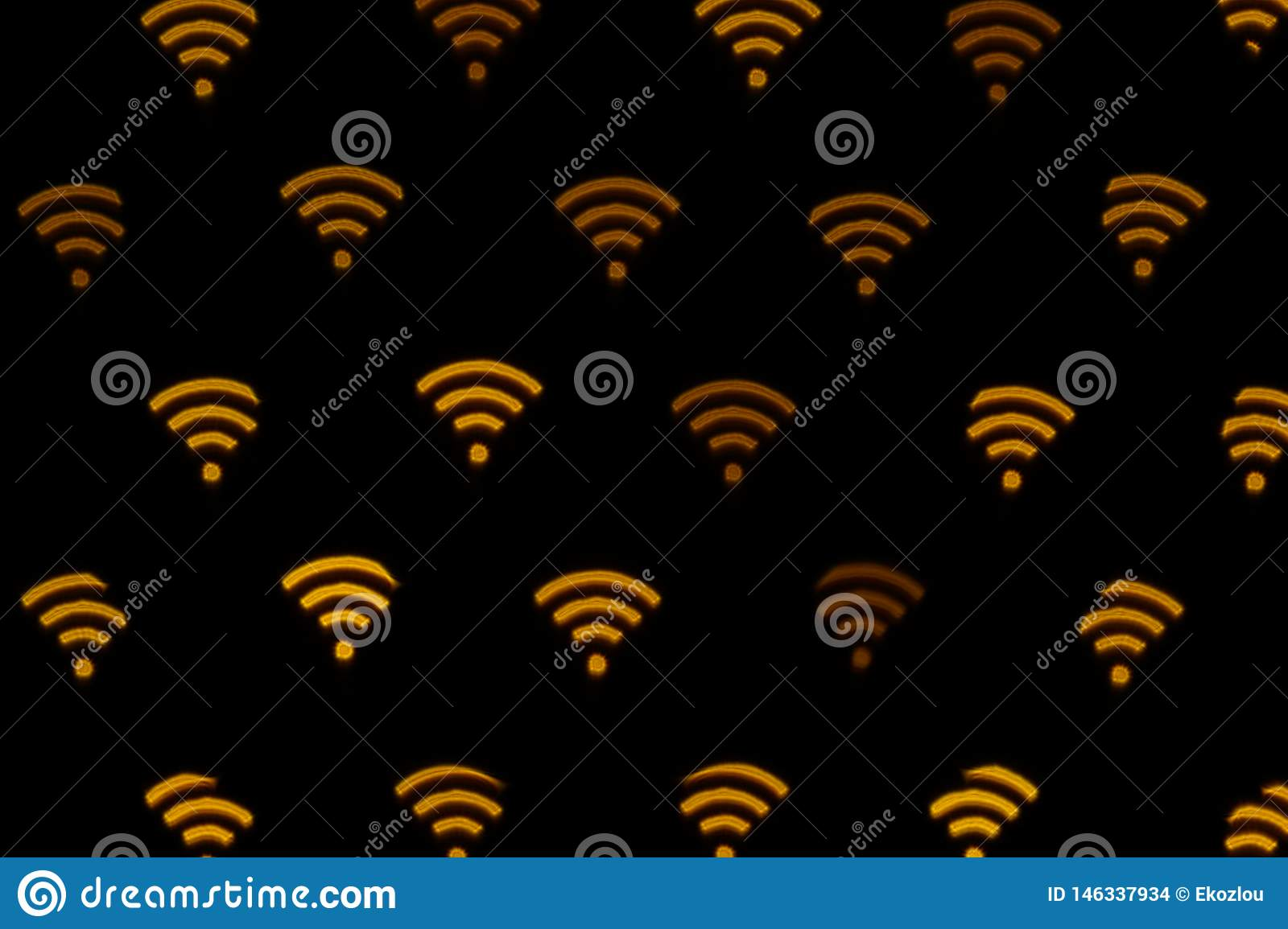 WIFI symbol abstract background. Icon connection to the wifi, wireless network icon