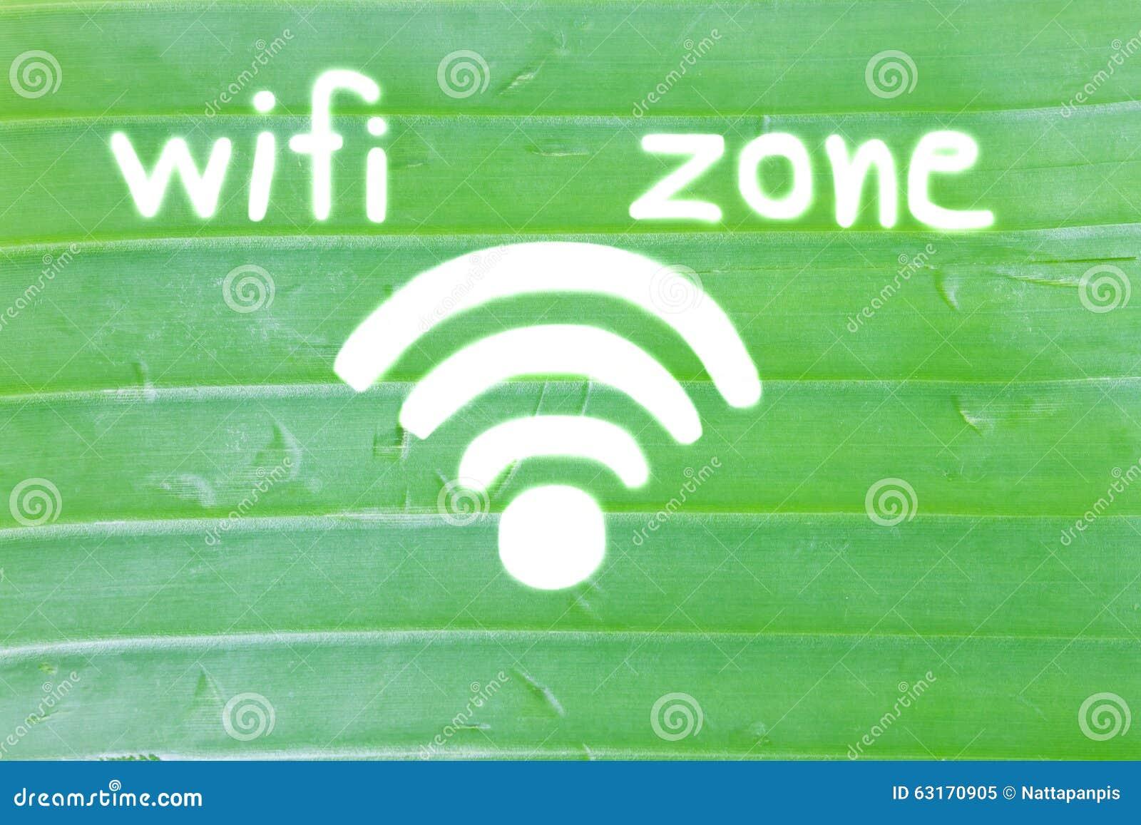 Wifi symbol banana leaf draw wifi zone stock image image of royalty free stock photo biocorpaavc
