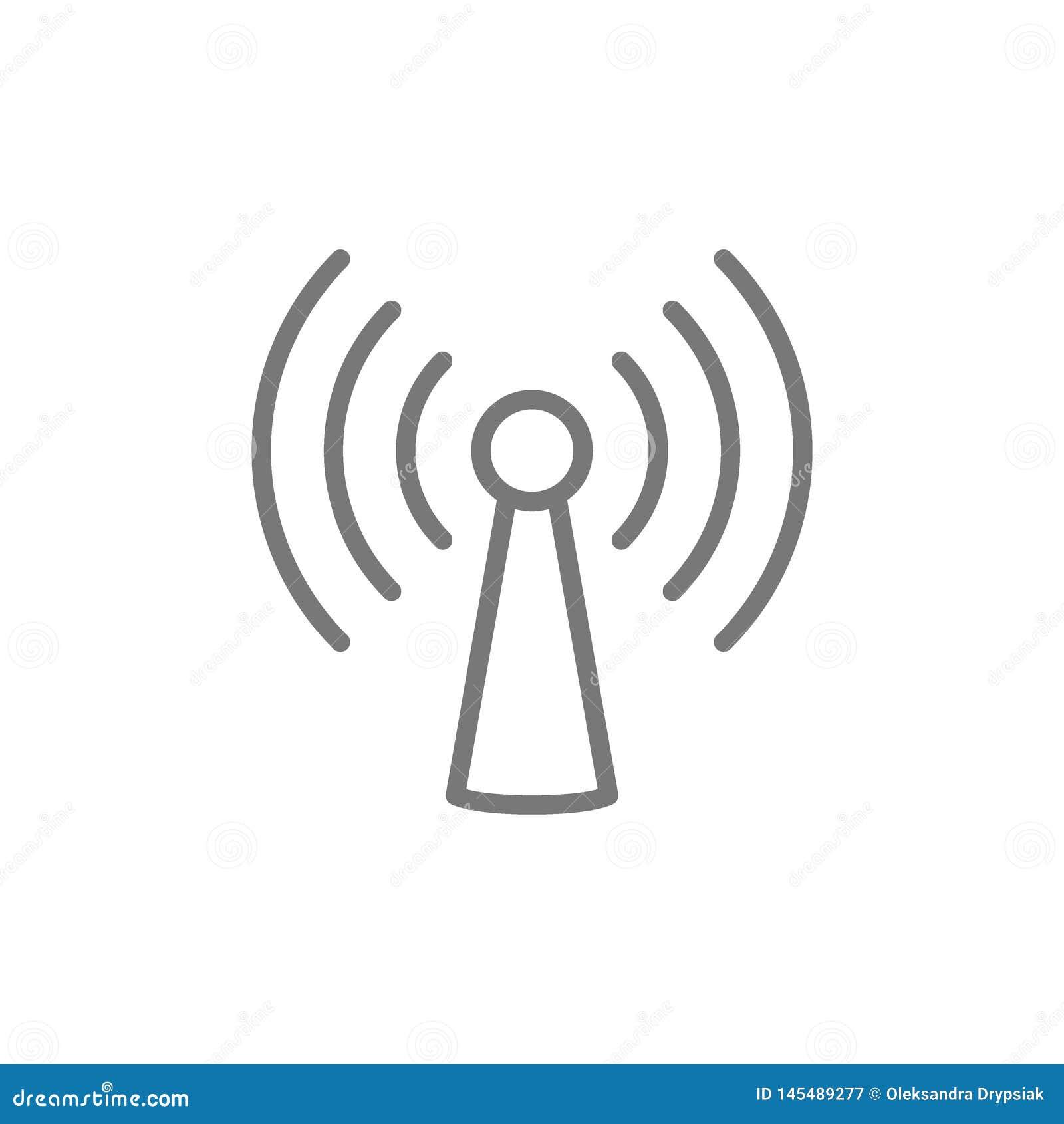 Wifi torn, antennlinje symbol