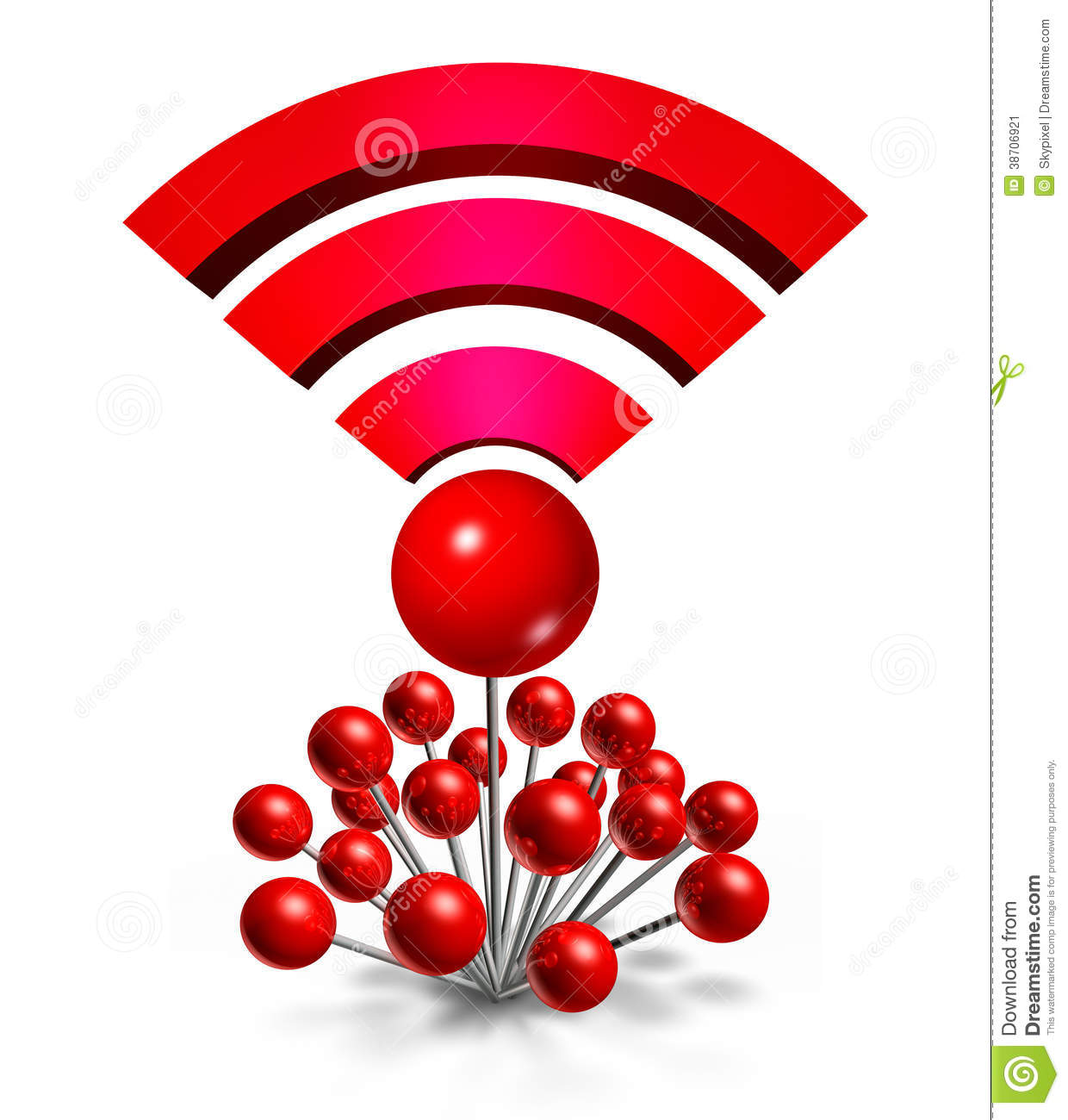 Wifi wireless location stock image image 38706921 for Localisation wifi