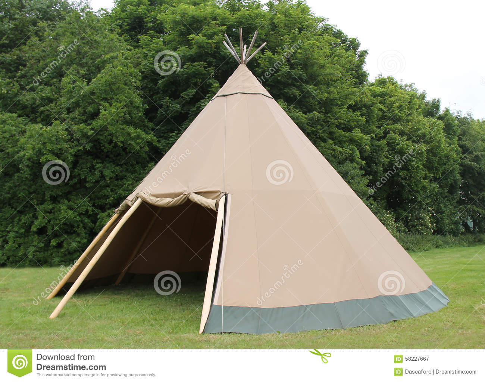 Wigwam Tent. & Wigwam Tent. stock image. Image of poles pegs vintage - 58227667