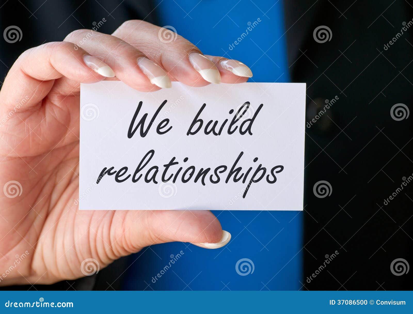 Wij bouwen verhoudingen