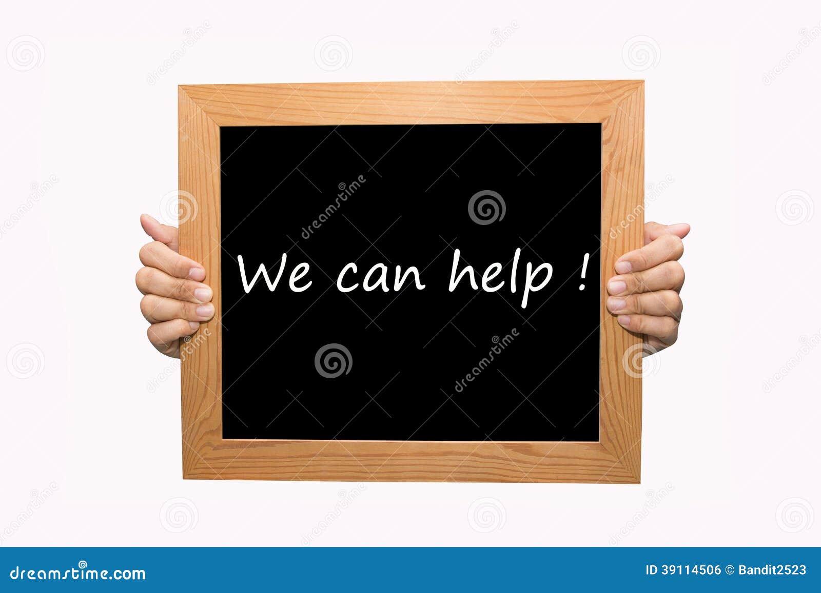 Wij kunnen helpen!